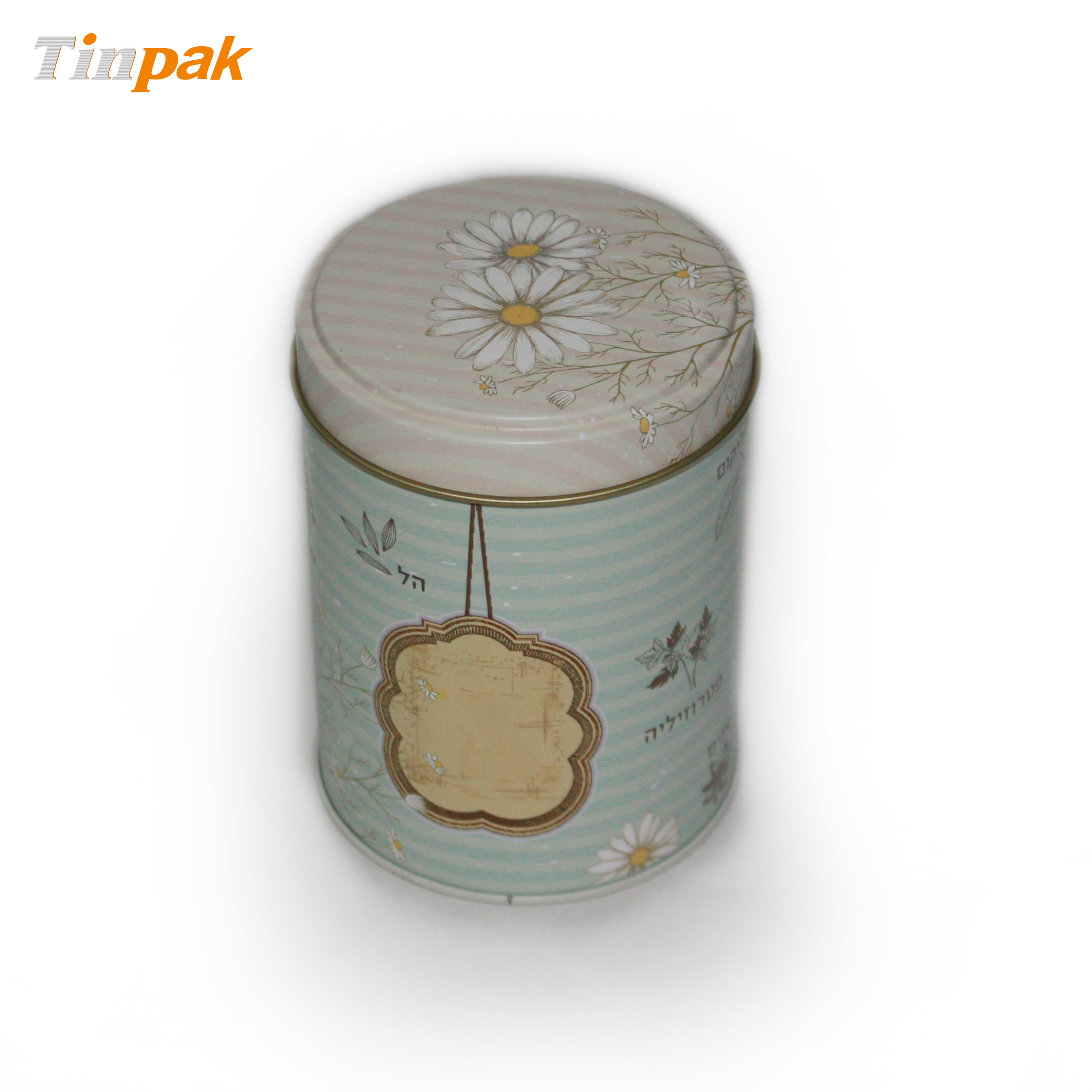 superior round cookie tin