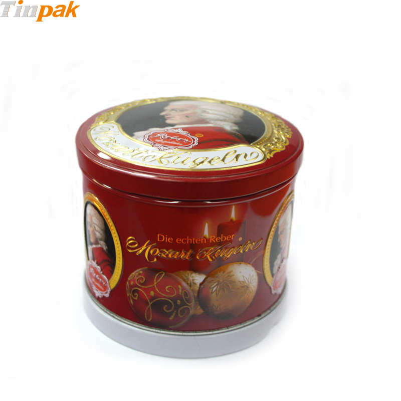 Round Musical Food Metal Container