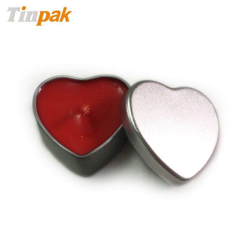 heart shaped candle tin boxes