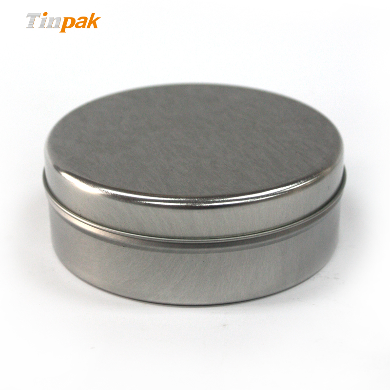 wholesale blank round aluminum candle tin box