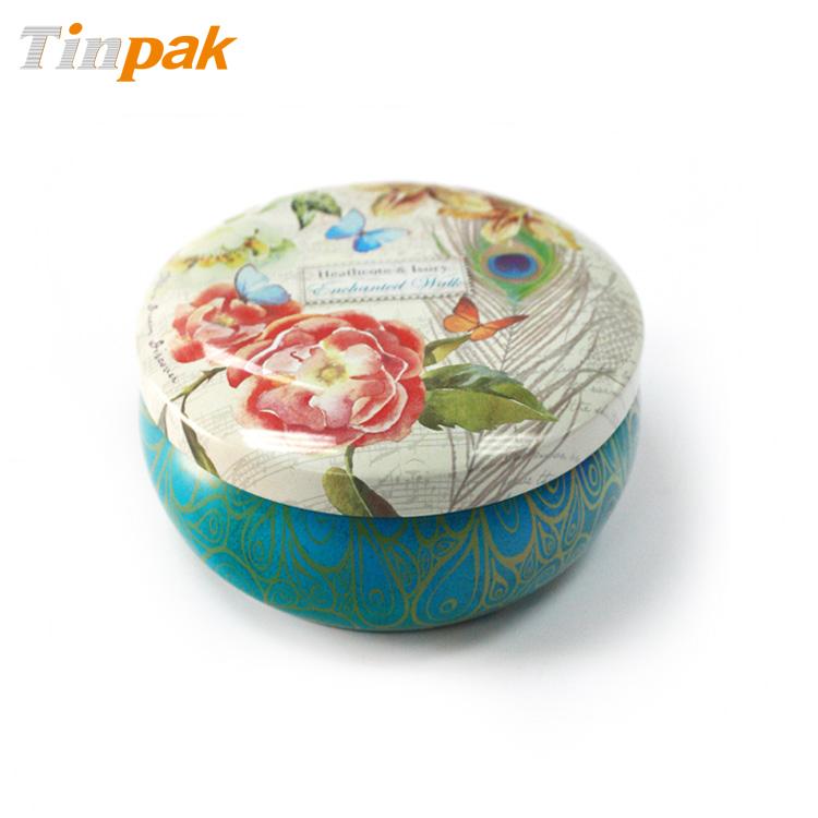 Wholesale Printed Round Aluminum Candle Tin Box
