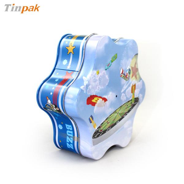 Premium Gift Plum-Blossom Shape Tin