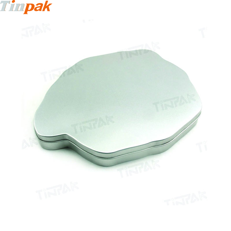 Wholesale Plain Map Shape Tin With Lid