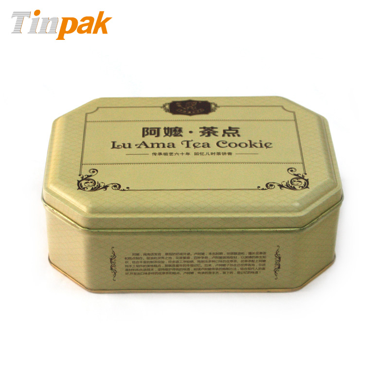 Bulk custom printed cookie tins cheap