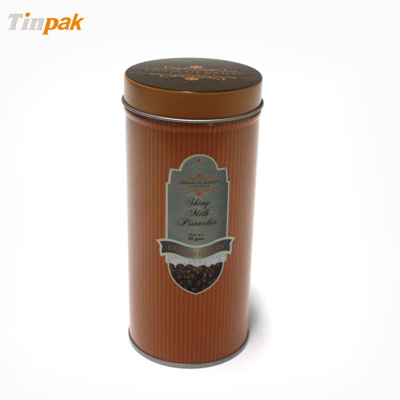 Custom vintage tin coffee canister