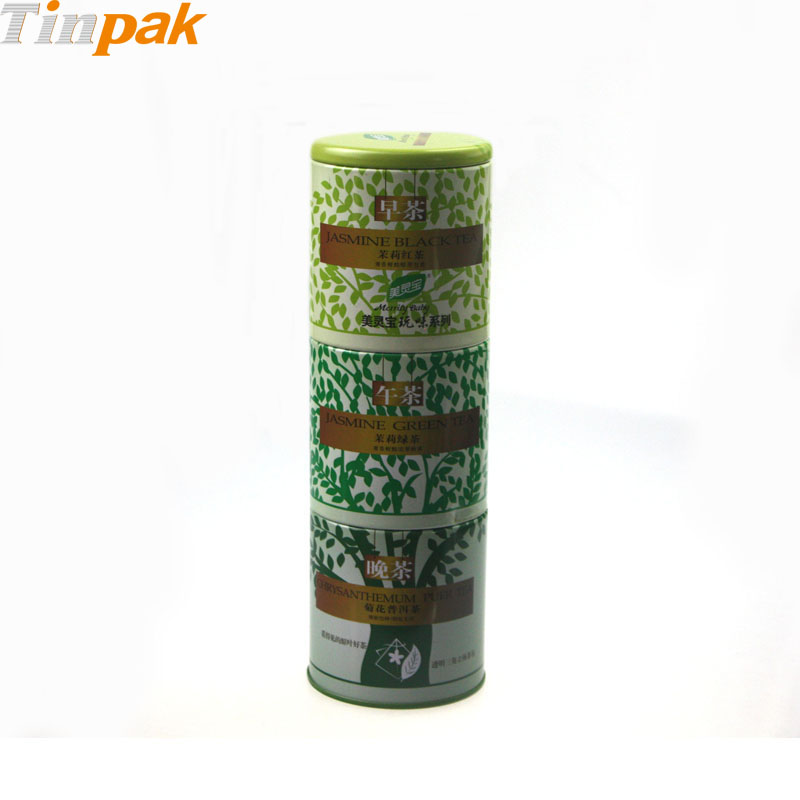Airtight Coffee Metal Canister with 3 tiers