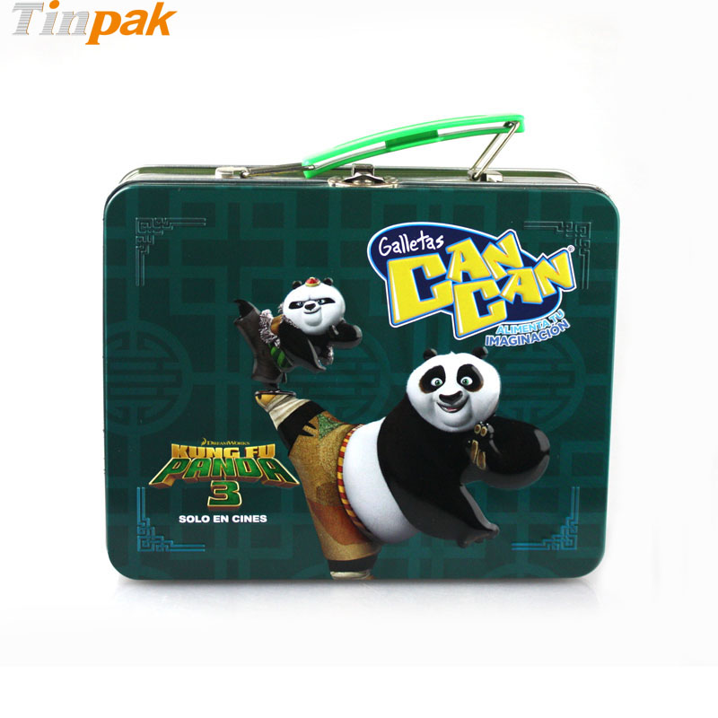 Embossed Kung Fu Panda Tin Lunch Box for kids