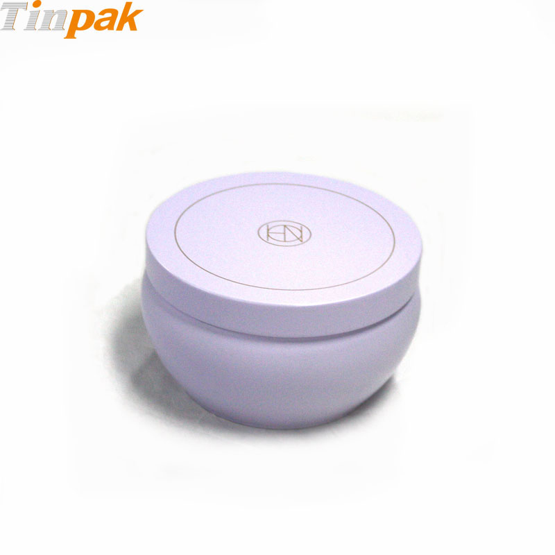 Empty Slip Slide Round Candle Tin Containers
