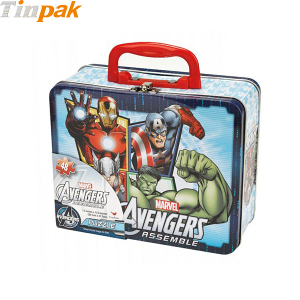 Marvel Avengers Puzzle Tin Lunch Box