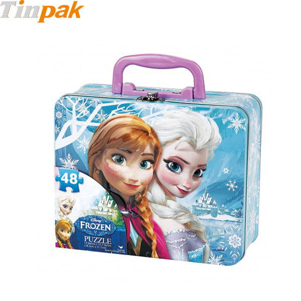Disney Frozen Puzzle Tin with Handle