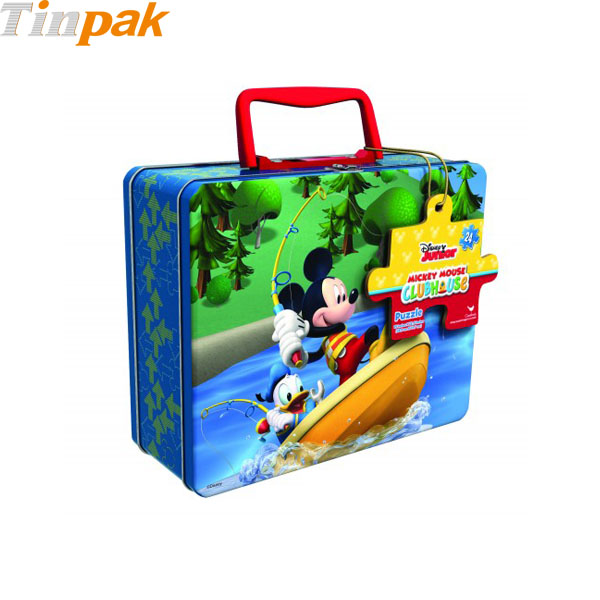 Disney Mickey Mouse Puzzle Tin with Handle