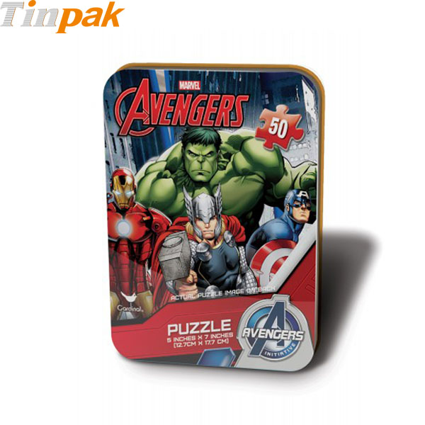 Marvel Avengers 50pc Mini Puzzle Tin Box