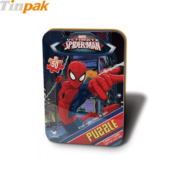 Spiderman Mini Puzzle Tin for 50 Pieces