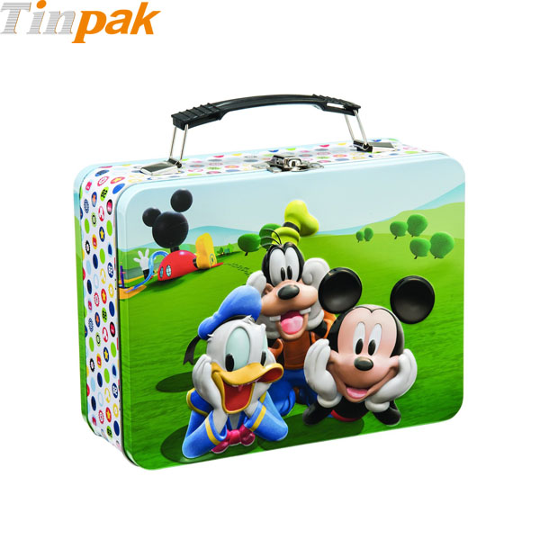 Disney Jr. Mickey Mouse Lunch Tin Tote for Puzzle