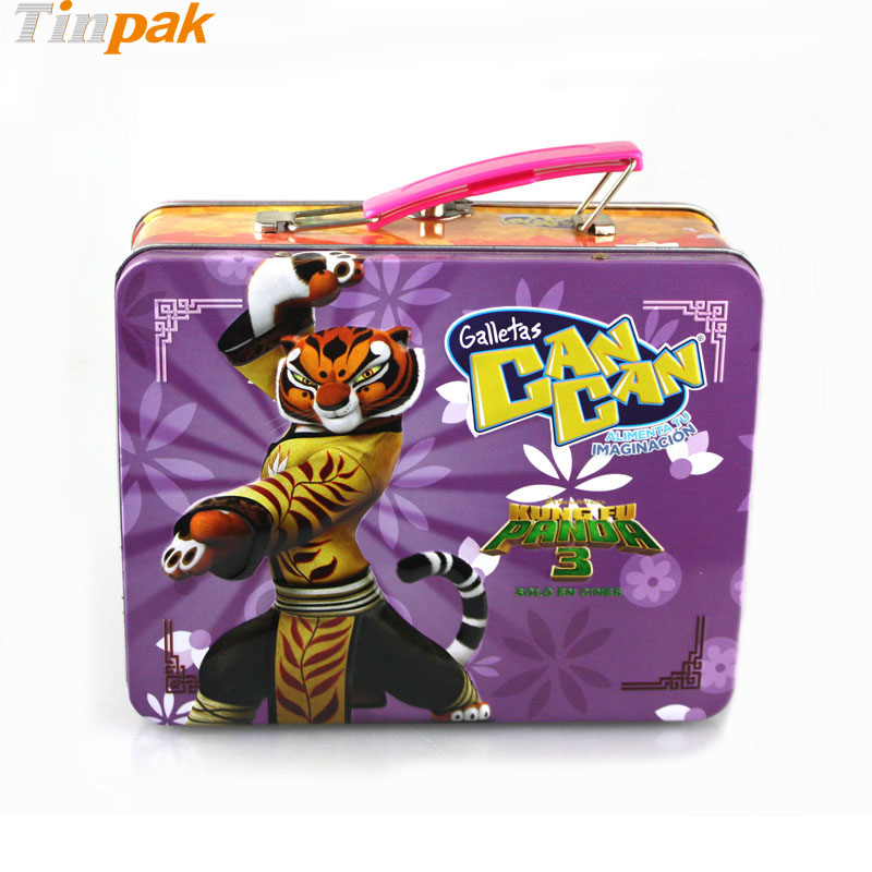 Wholesale Custom Kung Fu Panda 3 Lunch Tin Box