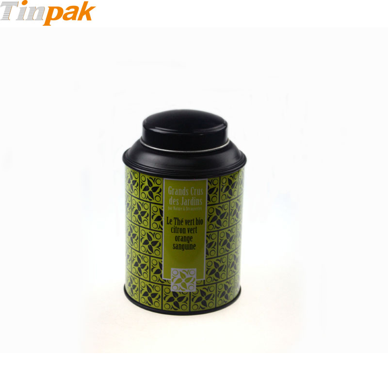 Round Stackable Tea Tin With Domed Lid
