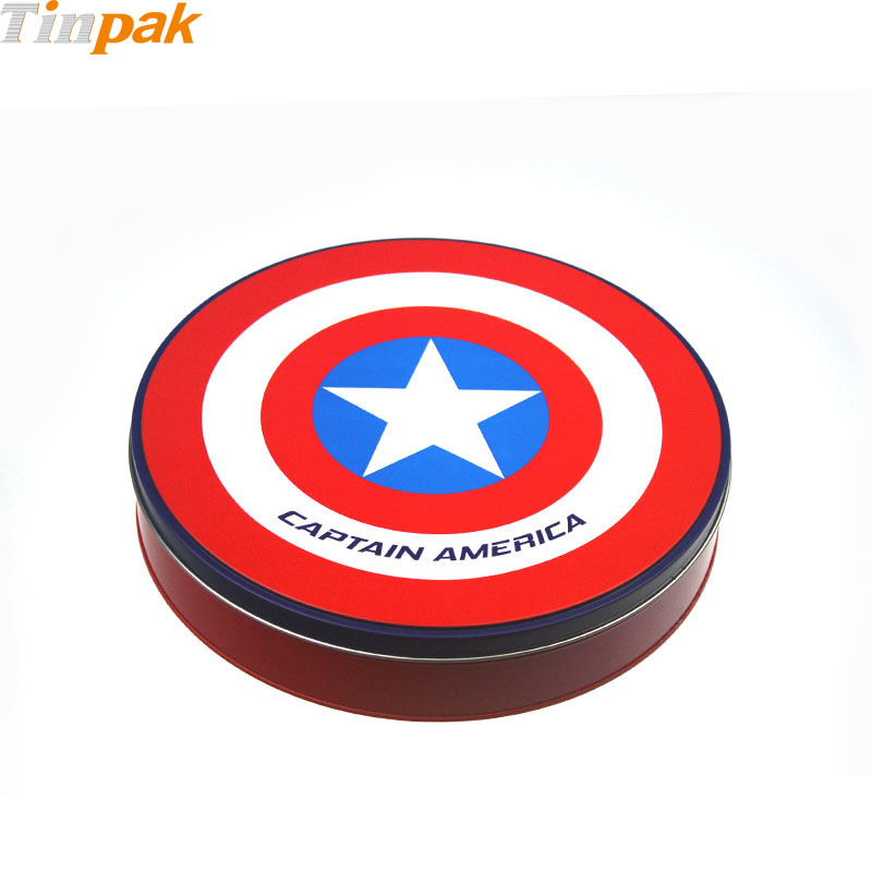 Custom Printing Round Antique Food Tin