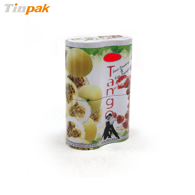 Small Peanut Shaped Tea Tin Box