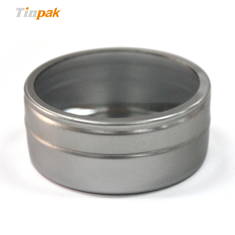 Wholesale small candle tins with clear lids