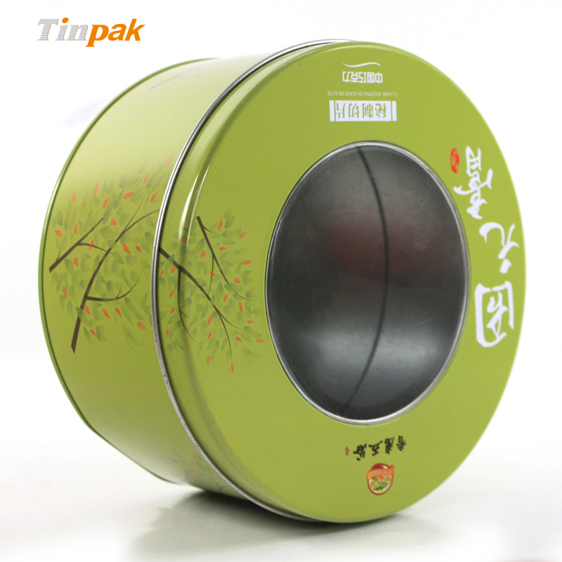 Wholesale ore cookie tin box with clear lid