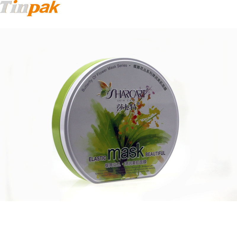 Decorative D-Shape Cosmetic Tin Box for Sale