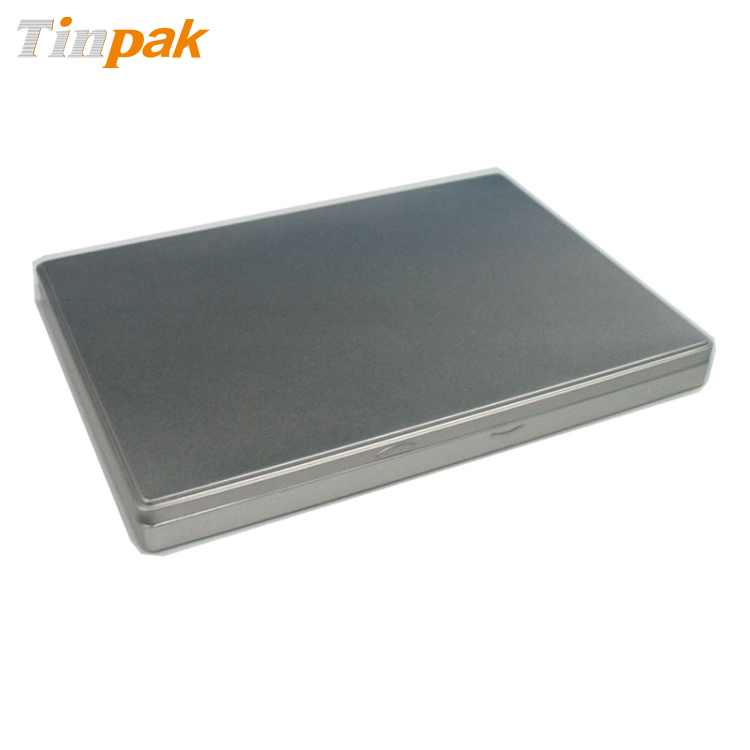 Rectangular A4 size document tins with hinged lid