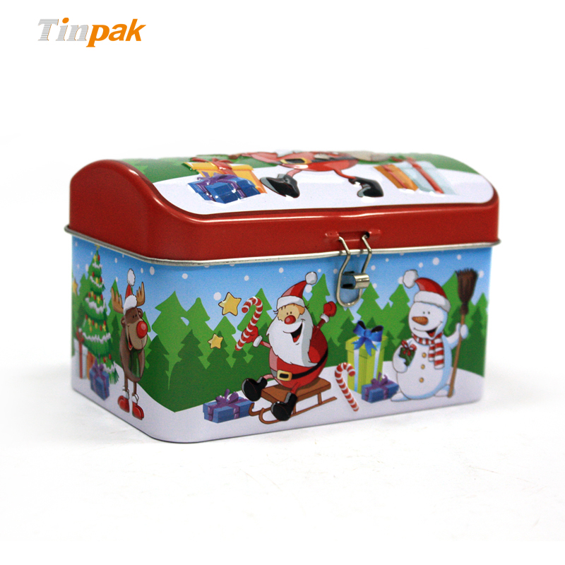 Small Christmas Metal Gift Boxes with Lock