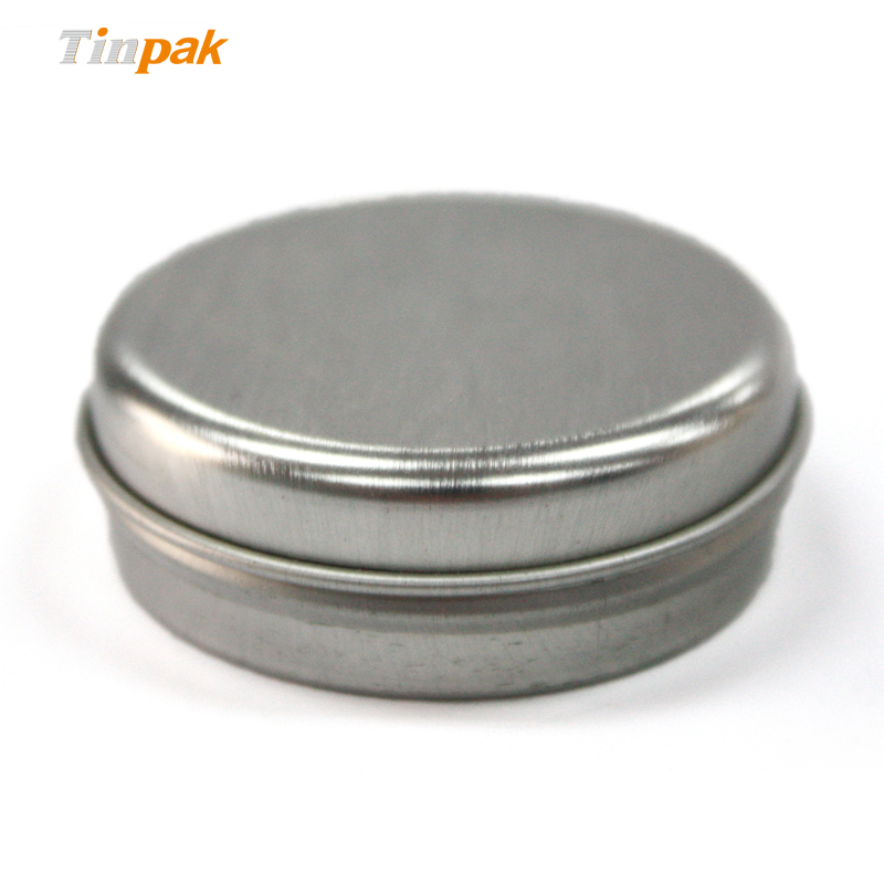 Empty Slip Slide Round Tin Containers for Lip Balm