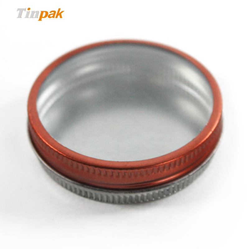 Empty eos lip balm tin container wholesale