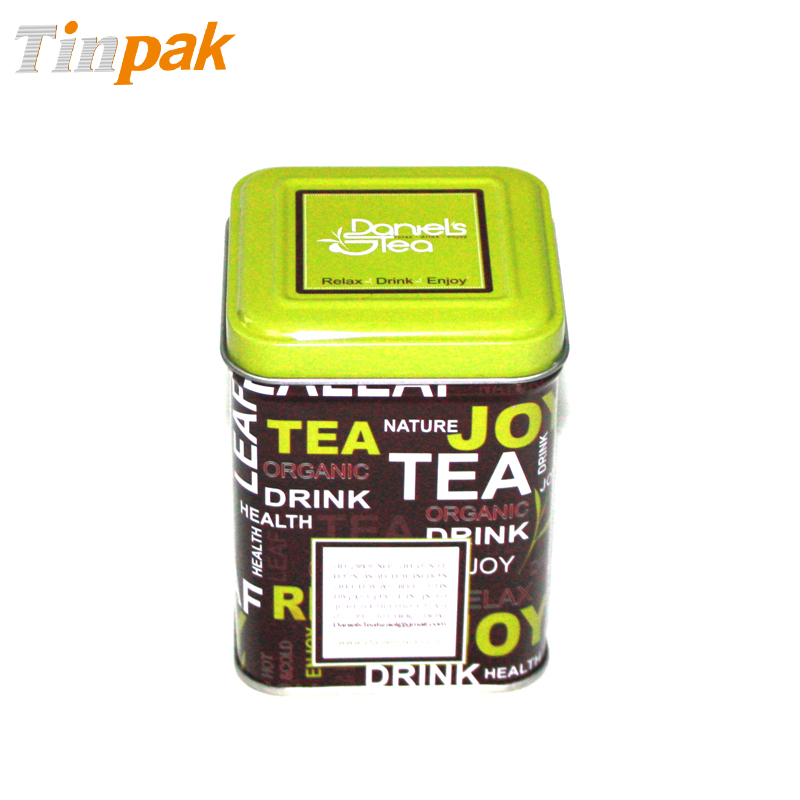 Decorative Square Tea Tin Containers for Sale
