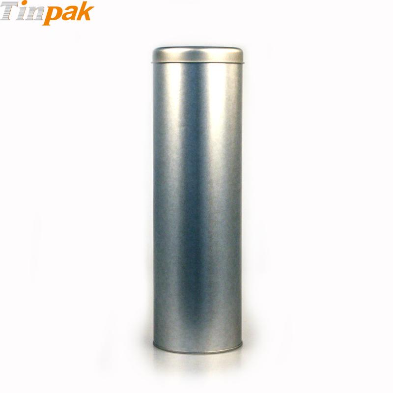 Round Silver Wine Bottle Metal Tins