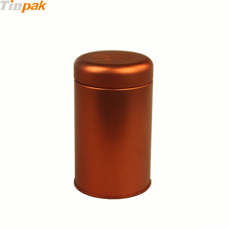 Round Tea Metal Cans with Plus Lid