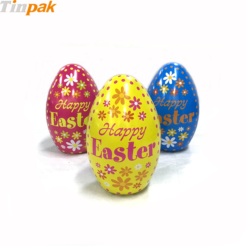 Sets of  Vintage Metal Easter Egg Tins for Chocolate