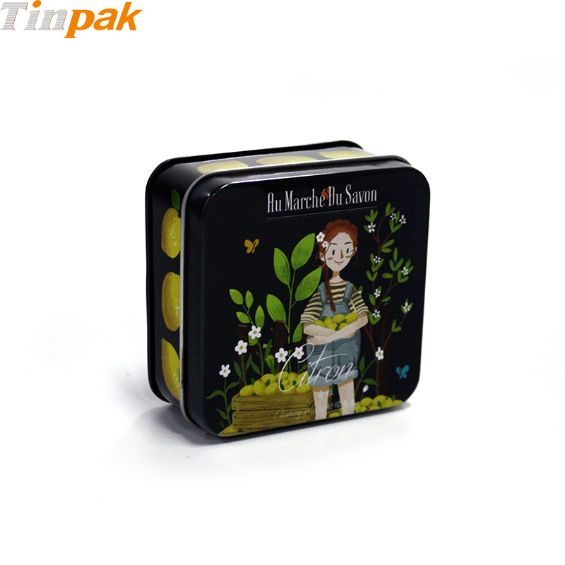 Square Custom Soap Tins with Tray