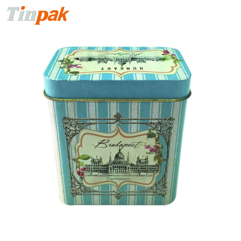 Bespoke Oblong Printed Tea Tin Container