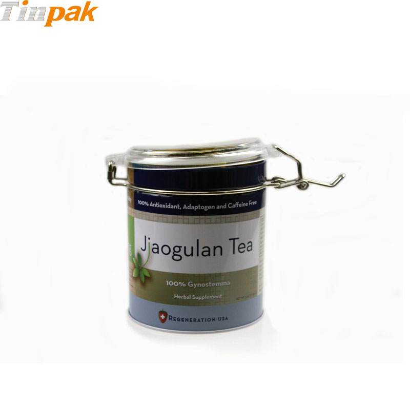 Round Airtight Tea Tin Box