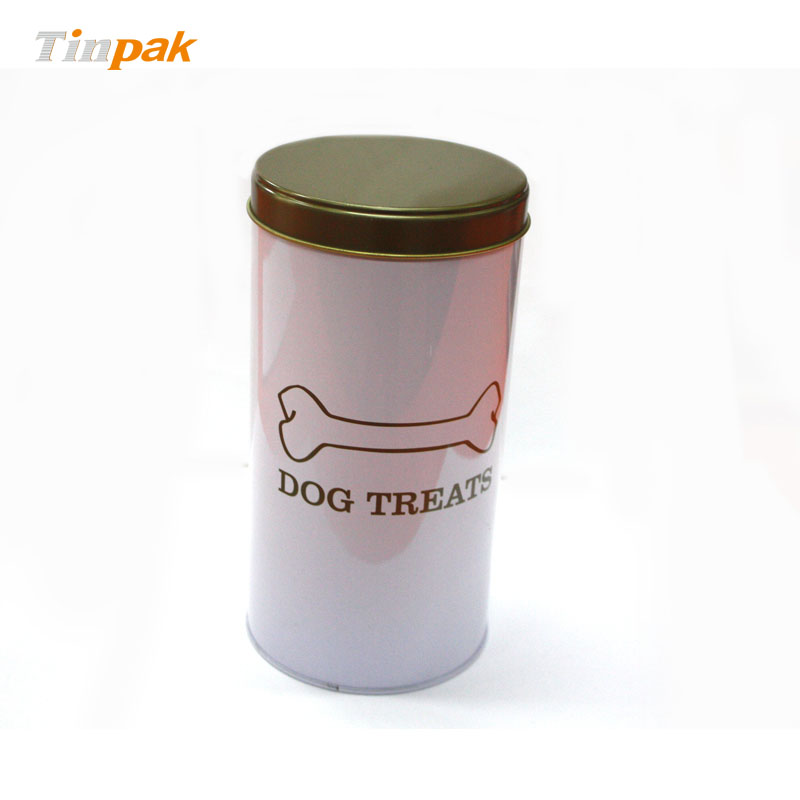 Wholesale premium round dog food tin