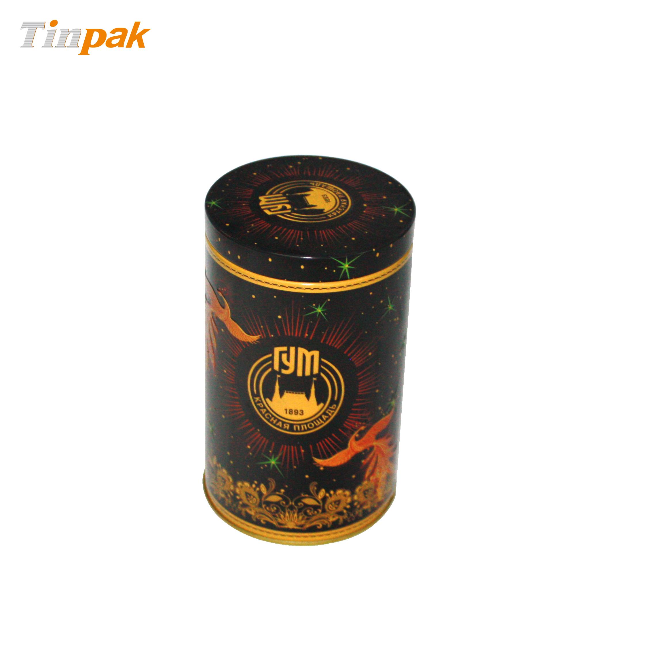 Round Custom Tea Tin with Plus Lid