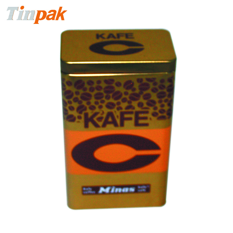Rectangular Custom Airtight Coffee Tin Box