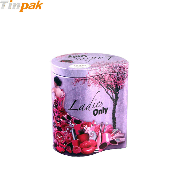 Custom printed empty metal sugar containers