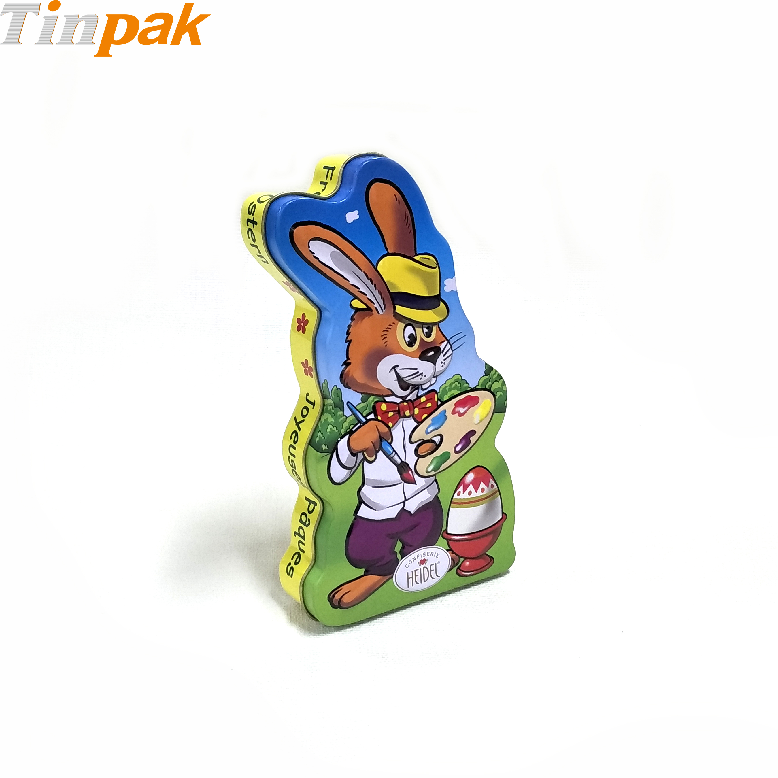 Custom embossed Easter metal gift boxes for chocolates
