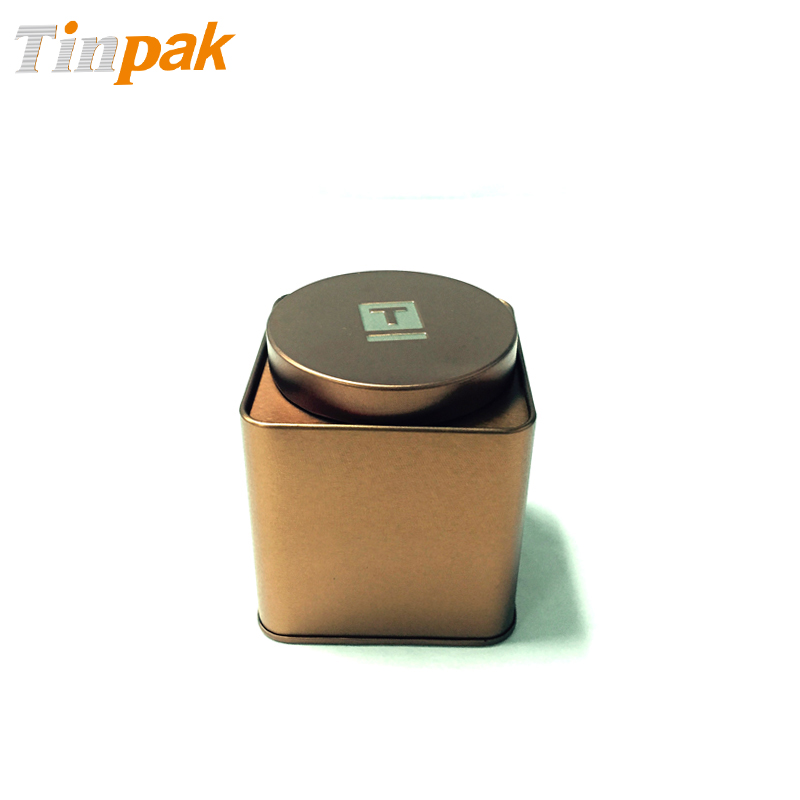 Airtight Vintage Square Tins With Inner Lid