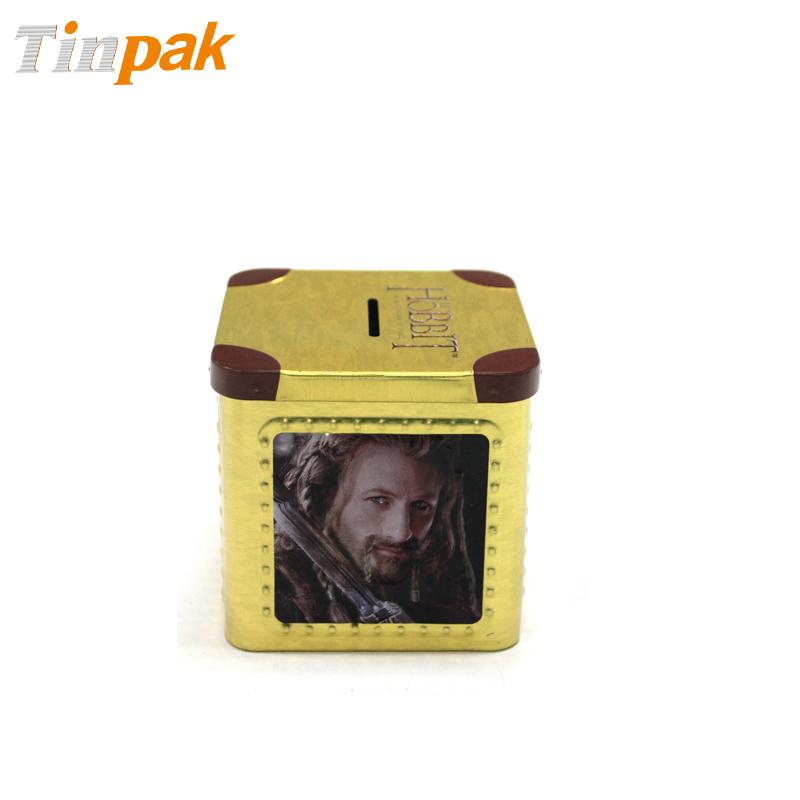 Wholesale custom printed tin money box saving bank