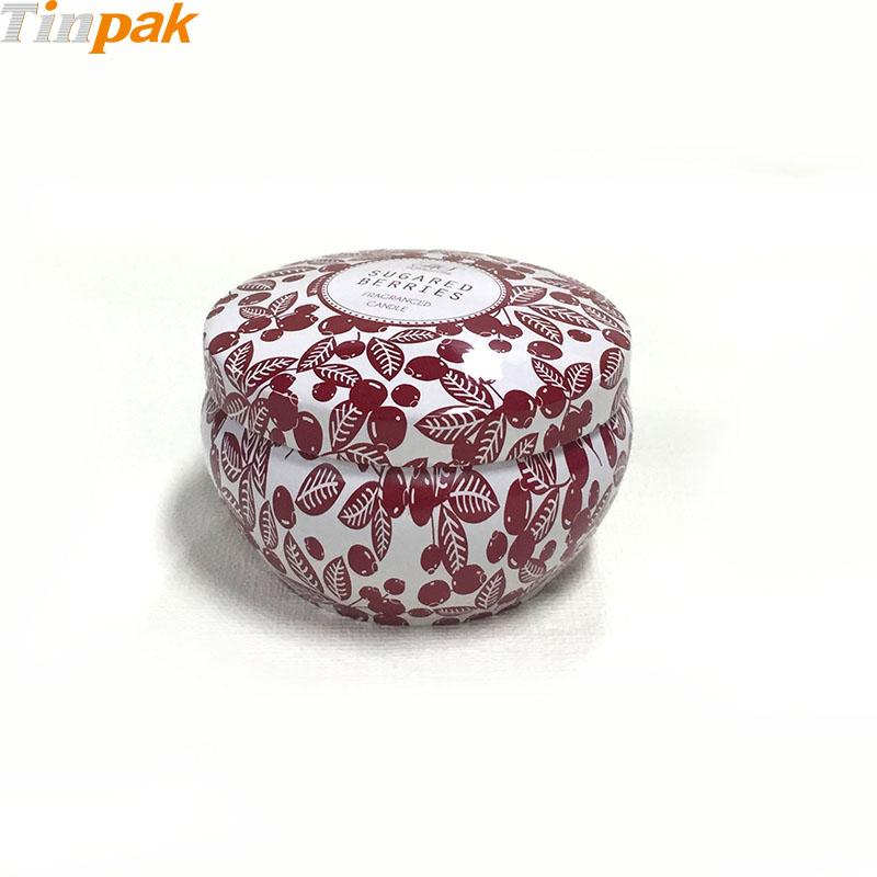 Decorative small urn shaped candle tin holder wholesaler