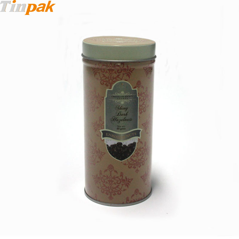 Wholesale round food grdae coffee metal containers