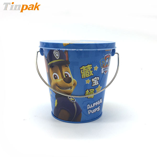 custom printed small metal buckets with lid